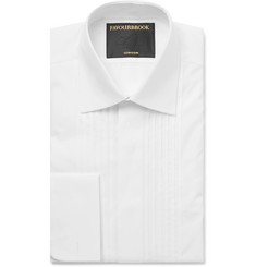 Favourbrook - White Cutaway-Collar Double-Cuff Cotton Tuxedo Shirt