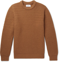 Mr P. Ribbed Wool-Blend Sweater
