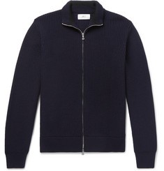 Mr P. - Merino Wool Zip-Up Cardigan