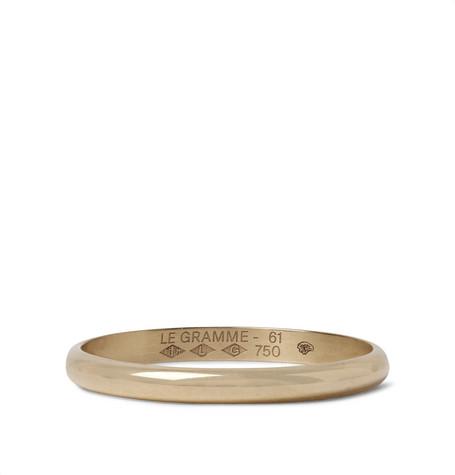 Le Gramme Le 2 Brushed 18-karat Gold Ring - Gold Y7DT5utx