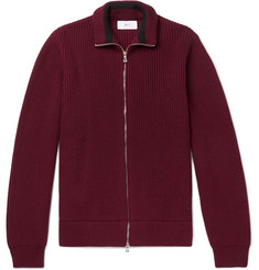 Mr P. Ribbed Merino Wool Zip-Up Cardigan