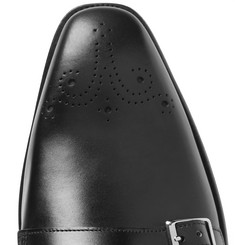 Kingsman - + George Cleverley Mark Leather Monk-Strap Shoes