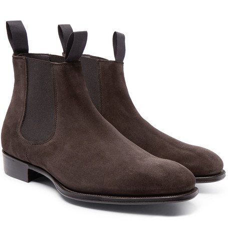 + George Cleverley Suede Chelsea Boots by Kingsman