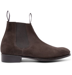 Kingsman + George Cleverley Suede Chelsea Boots
