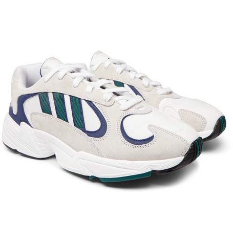more photos 1247b 01b34 adidas OriginalsYung 1 Nubuck and Mesh Sneakers