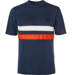 Iffley Road Cambrian Logo-Embroidered Striped Drirelease Piqué T-Shirt