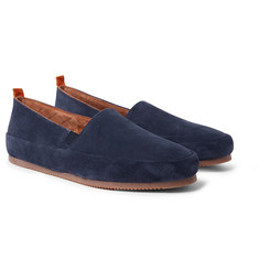 Mulo - Shearling-Lined Suede Loafers