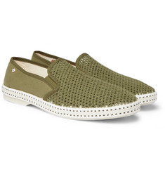 Rivieras Cotton-Mesh and Canvas Espadrilles