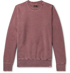 Freemans Sporting Club Garment-Dyed Fleece-Back Cotton-Jersey Sweatshirt