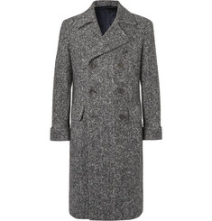 Rubinacci - Slim-Fit Double-Breasted Herringbone Virgin Wool Coat