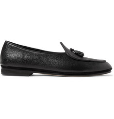 Rubinacci Marphy Textured-Leather Loafers