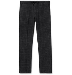 NN07 Copenhagen Slim-Fit Checked Wool-Blend Drawstring Trousers