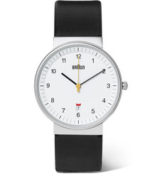 Braun BN0032 Stainless Steel and Leather Watch