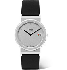Braun AW 50 Brushed Stainless Steel and Leather Watch