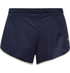 Tracksmith - Twilight Split Contrast-Tipped Mesh Shorts