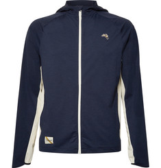 Tracksmith Session Mesh-Panelled Veloce Hooded Jacket