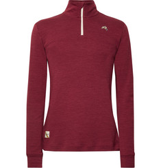 Tracksmith Downeaster Merino Wool-Blend Jersey Half-Zip Top