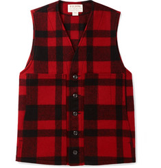 Filson Checked Mackinaw Virgin Wool Gilet