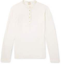 Massimo Alba Cotton and Cashmere-Blend Henley T-Shirt