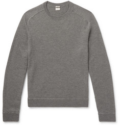 Massimo Alba - Watercolour-Dyed Mélange Loopback Cashmere Sweater