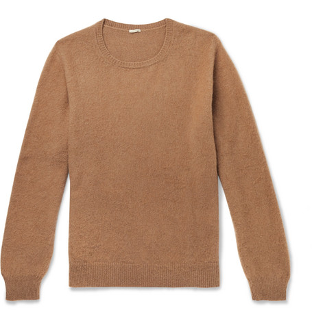 Massimo Alba Brushed Camel Sand Hair Sweater A1XIxwqXr