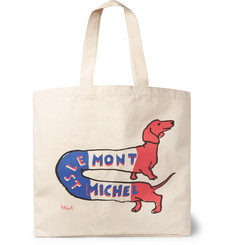 Le Mont Saint Michel Printed Canvas Tote Bag