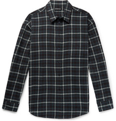 Balenciaga Oversized Checked Cotton-Flannel Shirt