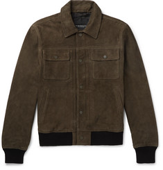 Club Monaco Suede Trucker Jacket