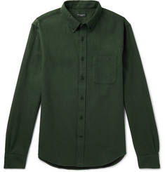Club Monaco Slim-Fit Button-Down Collar Brushed Cotton-Twill Shirt