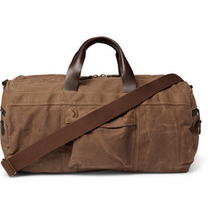 J.Crew Abingdon Leather-Trimmed Waxed Cotton-Canvas Holdall