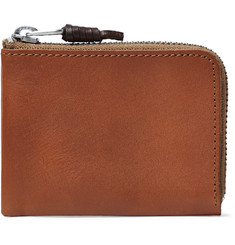 J.Crew Leather Zip-Around Wallet
