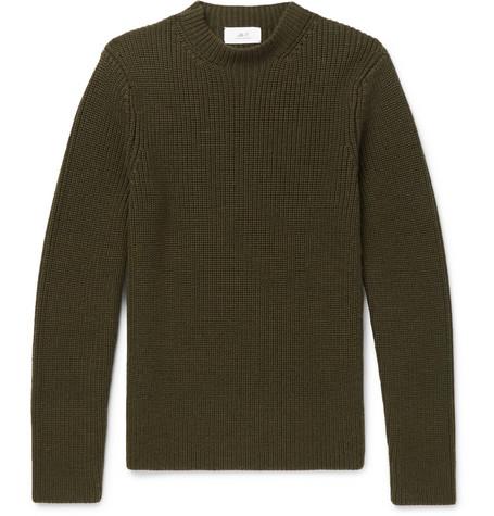 Ribbed Merino Wool Sweater by Mr P.