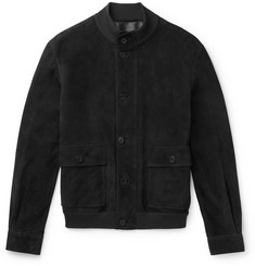The Row - James Suede Bomber Jacket