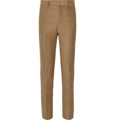 The Row - Camel Mick Slim-Fit Cotton and Cashmere-Blend Moleskin Trousers