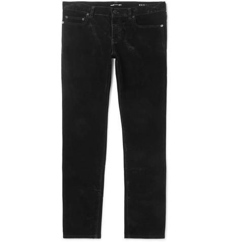 Slim Fit Cotton Velvet Trousers by Saint Laurent