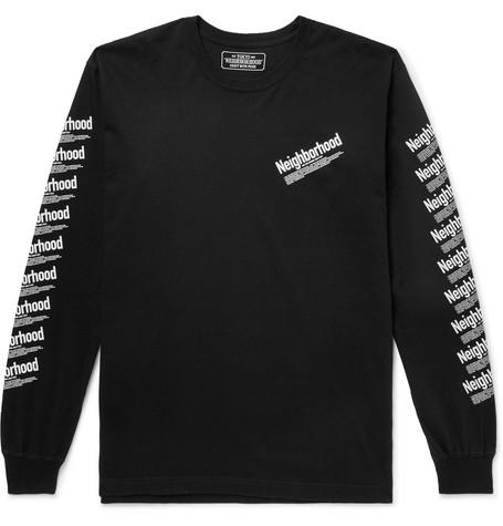 Logo Print Cotton Jersey T Shirt by Neighborhood