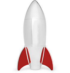 Asprey - Rocket Enamelled Sterling Silver Cocktail Shaker