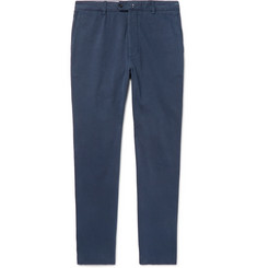 Officine Generale Navy Oliver Slim Tapered Cotton-Twill Chinos
