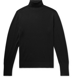 Officine Generale Slim-Fit Merino Wool Rollneck Sweater