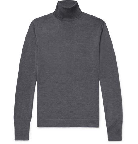 Slim Fit Merino Wool Rollneck Sweater by Officine Generale