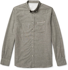 Officine Generale Button-Down Collar Selvedge Cotton Oxford Shirt