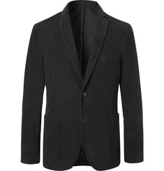 Officine Generale Charcoal Slim-Fit Unstructured Cotton-Corduroy Blazer