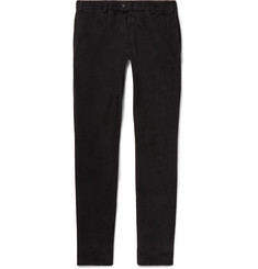 Officine Generale Charcoal Slim-Fit Cotton-Corduroy Trousers