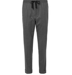 Officine Generale Drawstring Puppytooth Wool-Flannel Trousers