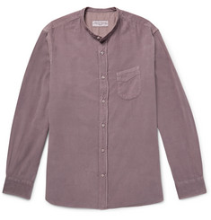 Officine Generale - Grandad-Collar Cotton-Corduroy Shirt