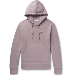 Officine Generale Distressed Fleece-Back Cotton-Jersey Hoodie