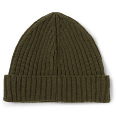 Officine Generale Ribbed Cashmere Beanie