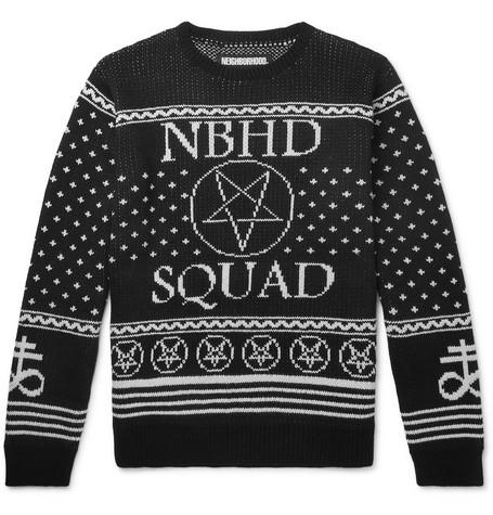 Jacquard Knitted Sweater by Neighborhood