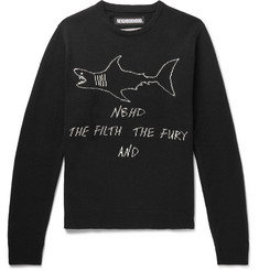 Neighborhood Shark-Intarsia Wool Sweater