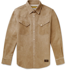 Neighborhood Slim-Fit Suede Overshirt